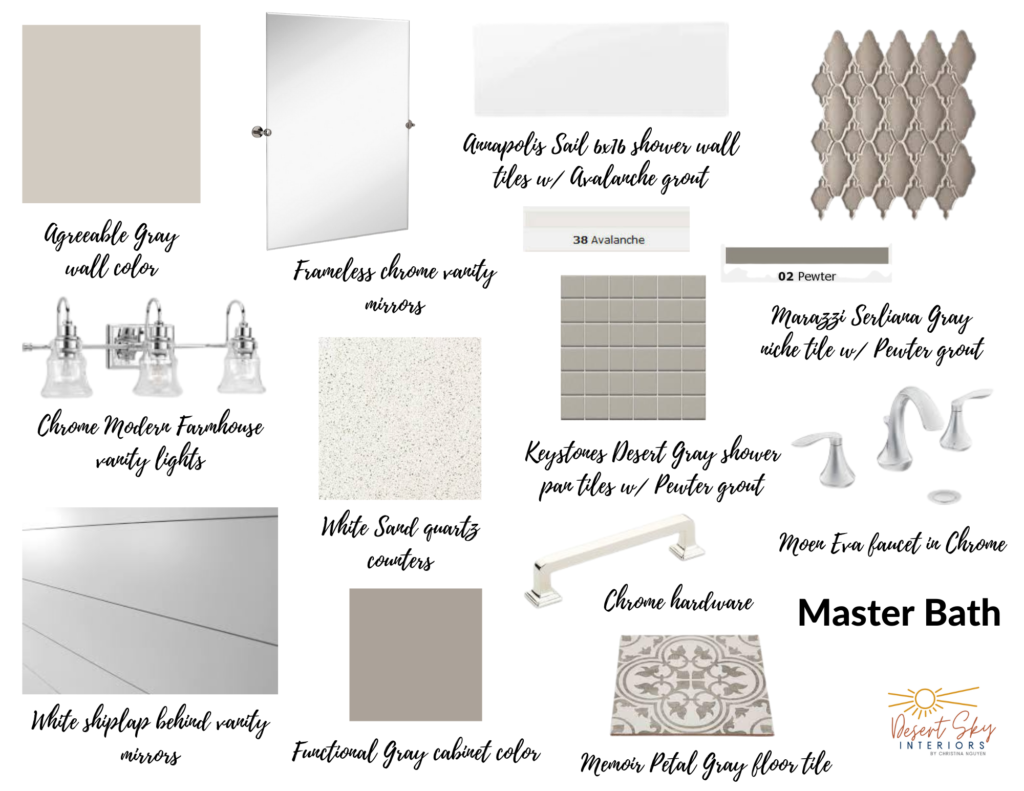 Mood Board, color palette, iron chandelier