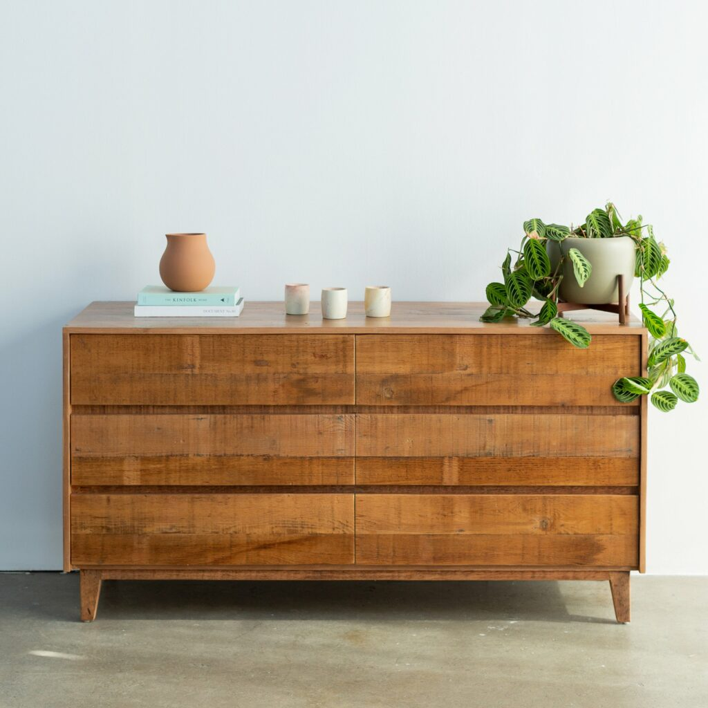 Natural wood dresser, eco-friendly furniture, eco-friendly, environment,