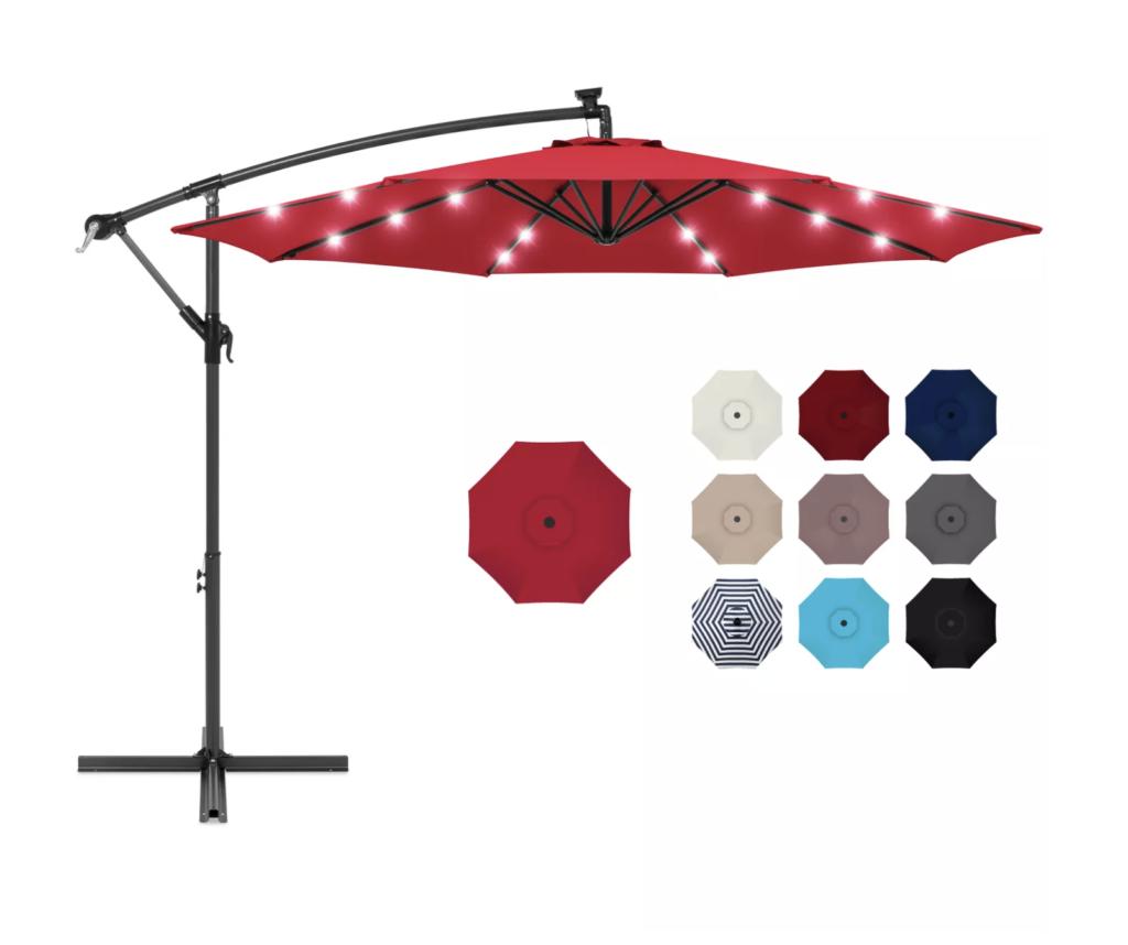 outdoor umbrella, outdoor party essentials