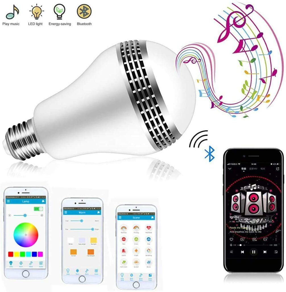 colored light bulb speaker
